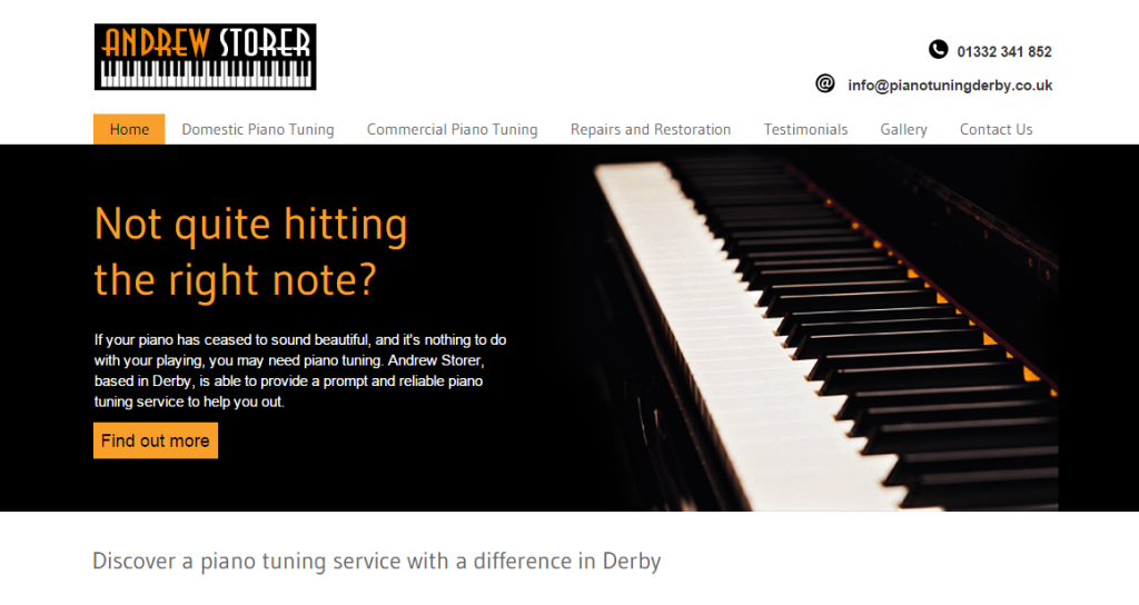 Piano Tuners Derby. Piano tuning with Andrew Storer
